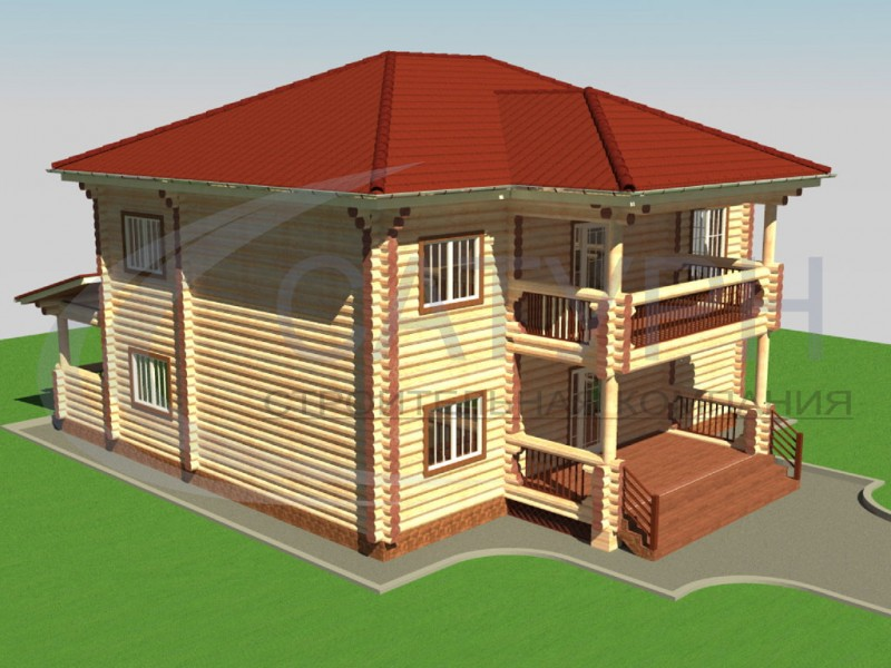 Двухэтажный кирпичный дом с чертежом 12 га 12 - новости - ин.